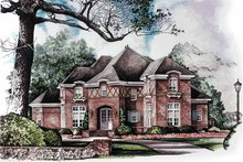 Home Plan - Tudor Exterior - Front Elevation Plan #952-261