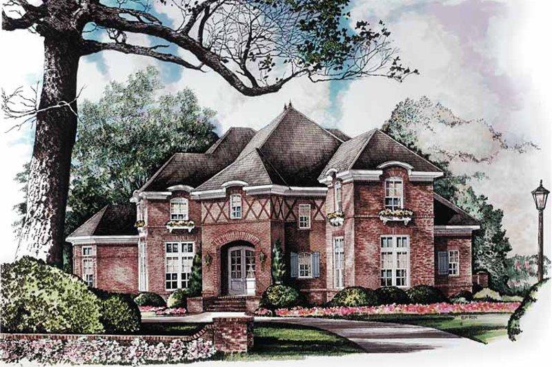 Dream House Plan - Tudor Exterior - Front Elevation Plan #952-261