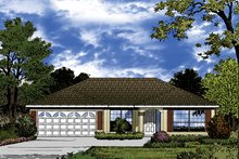 House Plan Design - European Exterior - Front Elevation Plan #417-847