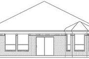 European Style House Plan - 4 Beds 2 Baths 2036 Sq/Ft Plan #84-231 Exterior - Rear Elevation