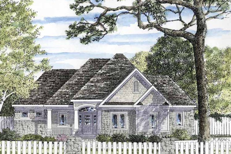 Home Plan - European Exterior - Front Elevation Plan #316-265