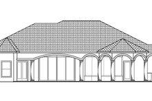 Architectural House Design - Mediterranean Exterior - Rear Elevation Plan #1017-145