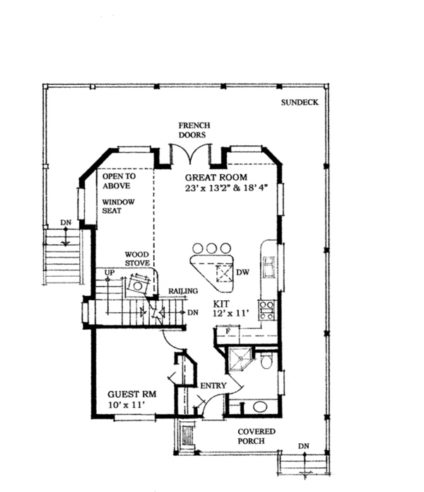 House Plan Design - Cabin Floor Plan - Main Floor Plan #118-167