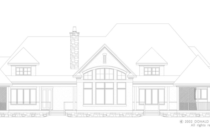 European Exterior - Rear Elevation Plan #929-930 - Houseplans.com