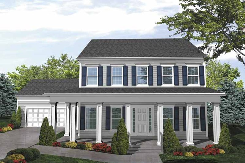 Colonial Exterior - Front Elevation Plan #320-832