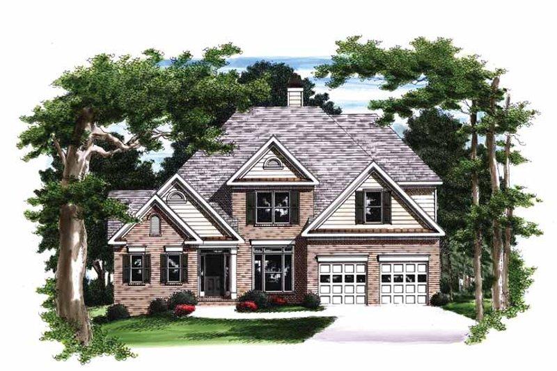 Colonial Exterior - Front Elevation Plan #927-381 - Houseplans.com
