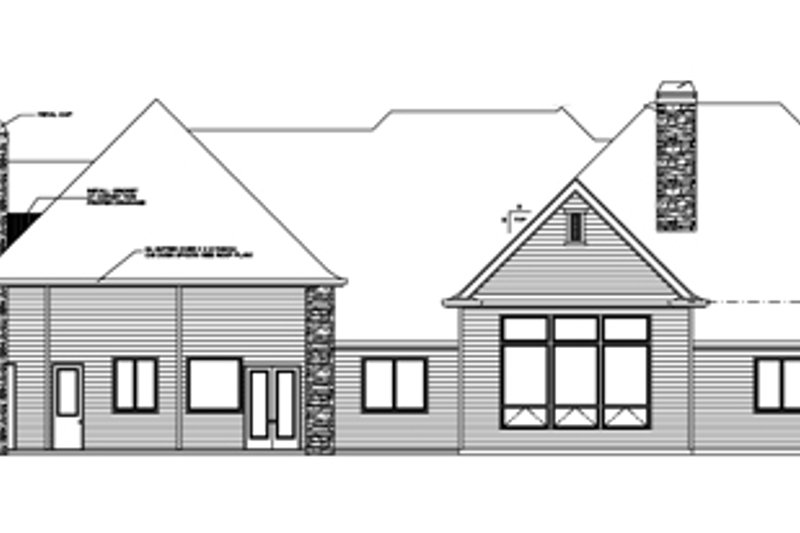 Country Exterior - Rear Elevation Plan #509-396 - Houseplans.com