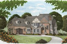 Home Plan - Tudor Exterior - Front Elevation Plan #413-902