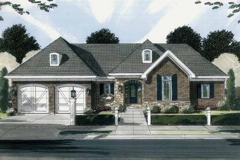 Country Exterior - Front Elevation Plan #46-780
