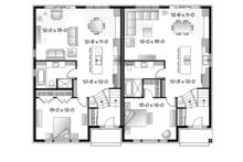 Contemporary Floor Plan - Main Floor Plan Plan #23-2597