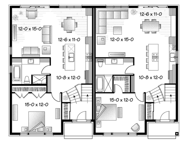 Contemporary Floor Plan - Main Floor Plan Plan #23-2597