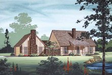 Dream House Plan - Traditional Exterior - Front Elevation Plan #45-420