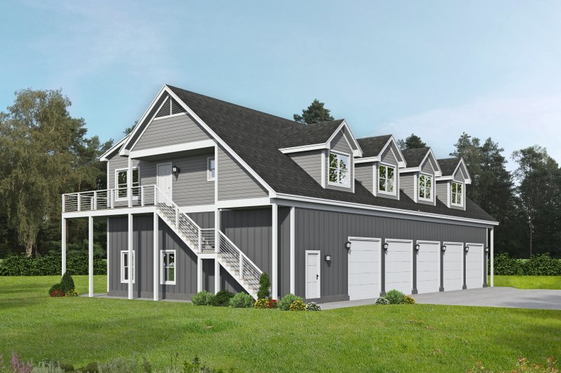 Architectural House Design - Traditional Exterior - Front Elevation Plan #932-443