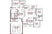 Traditional Style House Plan - 3 Beds 2 Baths 1897 Sq/Ft Plan #63-191 Floor Plan - Main Floor