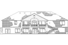 Home Plan - Traditional Exterior - Rear Elevation Plan #5-268