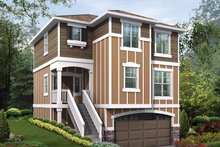 Craftsman Exterior - Front Elevation Plan #132-286