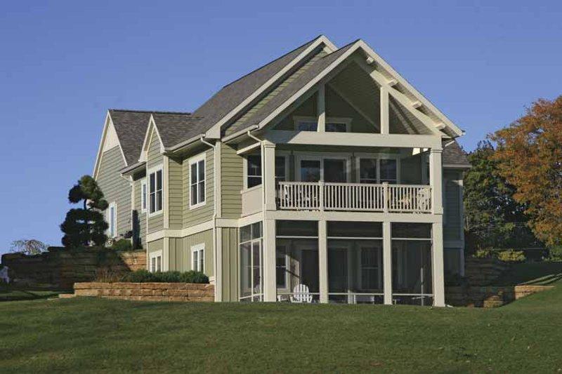 Traditional Exterior - Rear Elevation Plan #928-165 - Houseplans.com