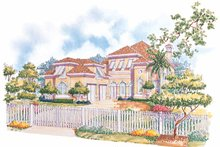 Mediterranean Exterior - Front Elevation Plan #930-70