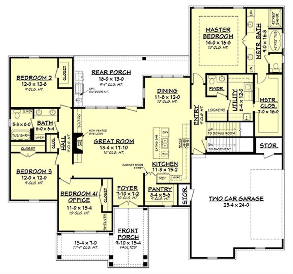 Beds 2.5 Baths 2373 Sq/Ft Plan #430