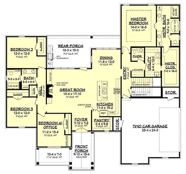 Modern Floor Plan - Other Floor Plan Plan #430-184