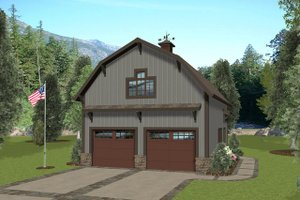 Country Exterior - Front Elevation Plan #56-703