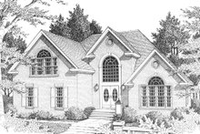 Home Plan Design - Front View - 2700 square foot European home