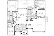 Mediterranean Style House Plan - 3 Beds 3 Baths 2456 Sq/Ft Plan #417-270 Floor Plan - Main Floor Plan