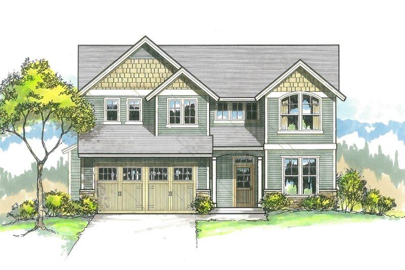 Craftsman Style House Plan - 4 Beds 2.5 Baths 2186 Sq/Ft Plan #53-516