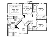 Traditional Style House Plan - 5 Beds 3 Baths 2681 Sq/Ft Plan #927-13
