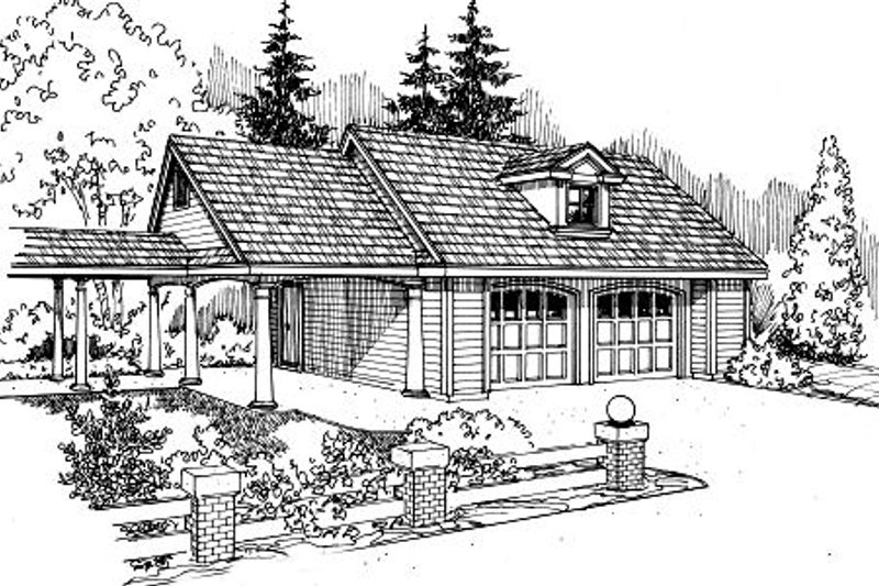 Traditional Exterior - Front Elevation Plan #124-653