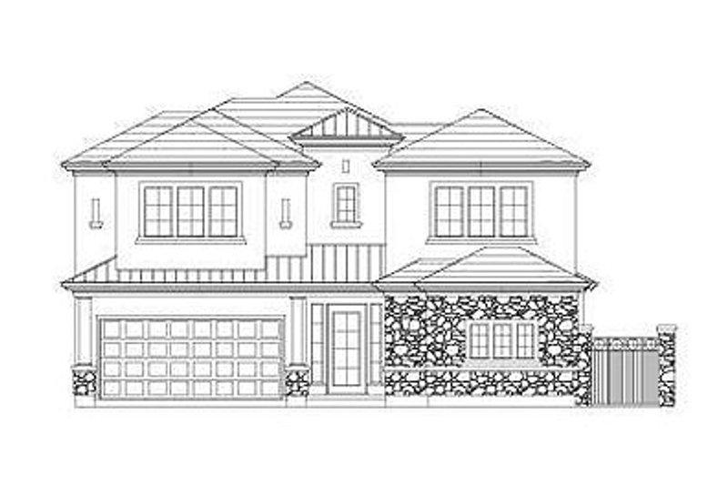 European Style House Plan - 4 Beds 3.5 Baths 3320 Sq/Ft Plan #411-856