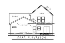 Dream House Plan - Traditional Exterior - Rear Elevation Plan #20-2441