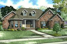 House Plan Design - European Exterior - Front Elevation Plan #17-650