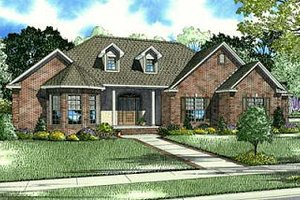 European Exterior - Front Elevation Plan #17-650