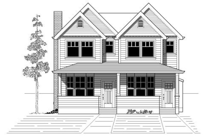 Traditional Style House Plan - 3 Beds 2.5 Baths 3338 Sq/Ft Plan #423-2 Exterior - Front Elevation