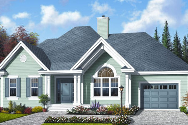 Cottage Exterior - Front Elevation Plan #23-2210