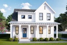 Home Plan - Farmhouse Exterior - Front Elevation Plan #461-74