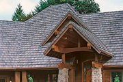 Craftsman Style House Plan - 4 Beds 3.5 Baths 4732 Sq/Ft Plan #48-233 Exterior - Front Elevation