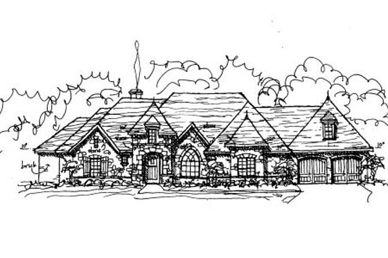 European Exterior - Front Elevation Plan #141-282