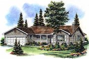 Farmhouse Style House Plan - 3 Beds 2 Baths 1291 Sq/Ft Plan #18-1011 Exterior - Front Elevation