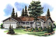 Farmhouse Exterior - Front Elevation Plan #18-1011