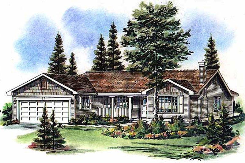 House Blueprint - Farmhouse Exterior - Front Elevation Plan #18-1011