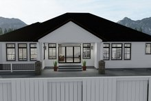 Dream House Plan - Ranch Exterior - Rear Elevation Plan #1060-30