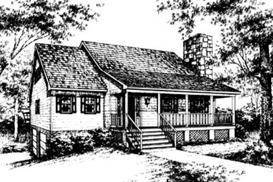 Country Exterior - Front Elevation Plan #10-230