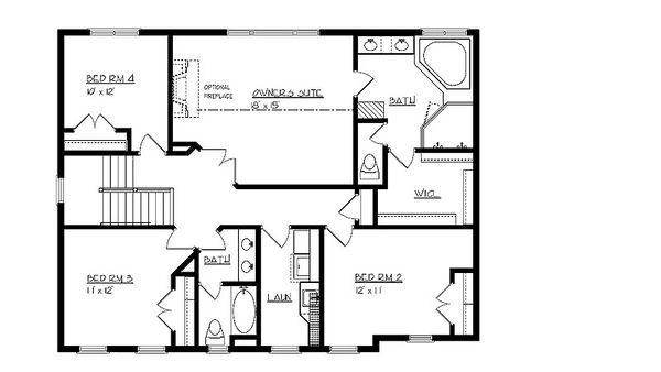 Craftsman Floor Plan - Upper Floor Plan #320-495