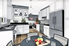 Cottage Interior - Kitchen Plan #44-175