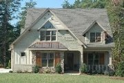 European Style House Plan - 4 Beds 3 Baths 3430 Sq/Ft Plan #413-104 Exterior - Other Elevation