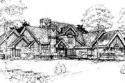 Modern Style House Plan - 4 Beds 4.5 Baths 5042 Sq/Ft Plan #320-135 Exterior - Other Elevation