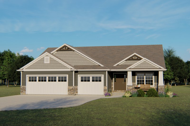 Dream House Plan - Ranch Exterior - Front Elevation Plan #1064-70