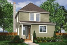 Dream House Plan - Traditional Exterior - Rear Elevation Plan #48-978